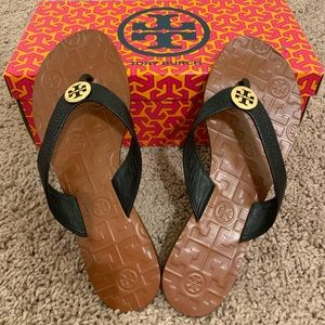 Tory Burch Thora Metal Logo Sandal